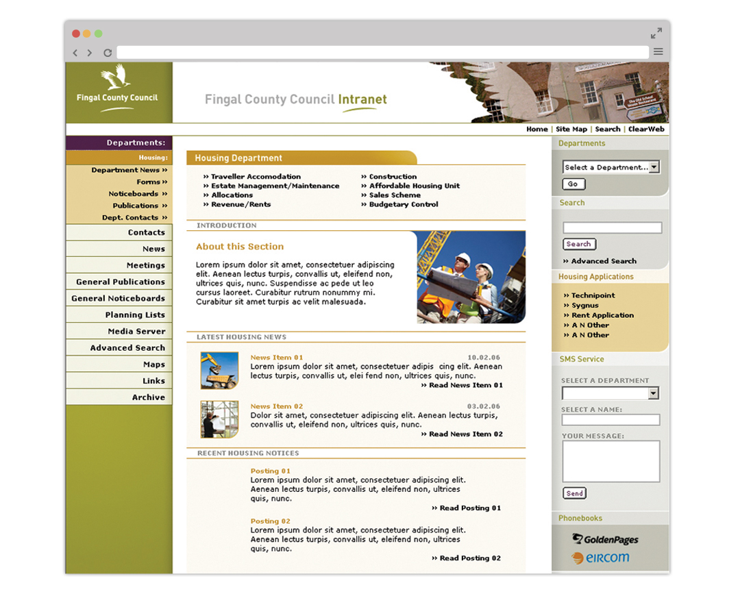 Fingal_county_intranet_webpage